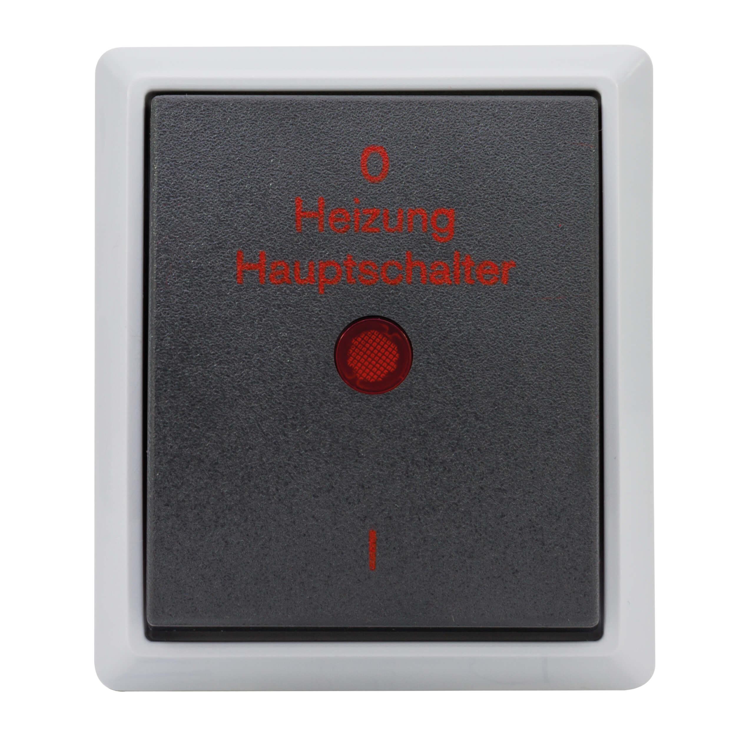 AquaForm Heizungs-Hauptschalter für feuchte Räume, grau