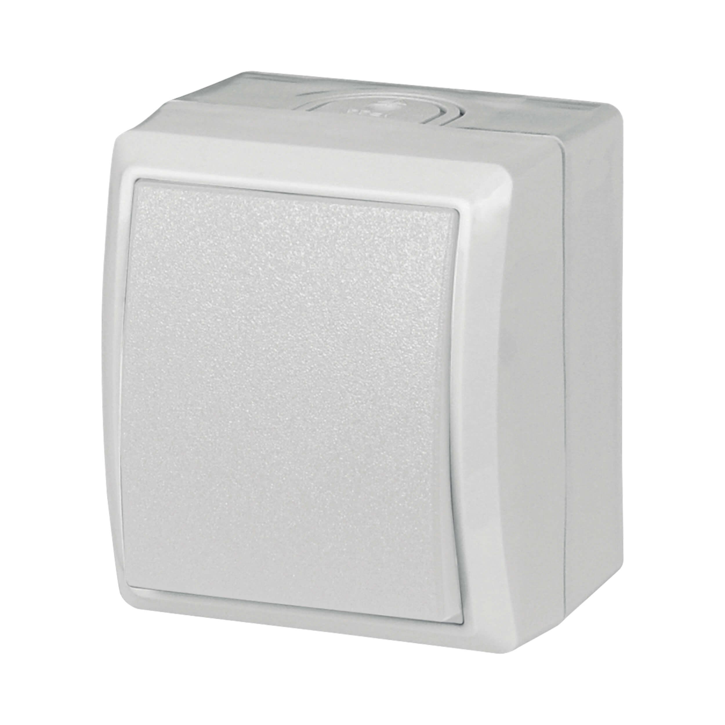 AquaForm Aus- u. Wechselschalter für feuchte Räume, weiss