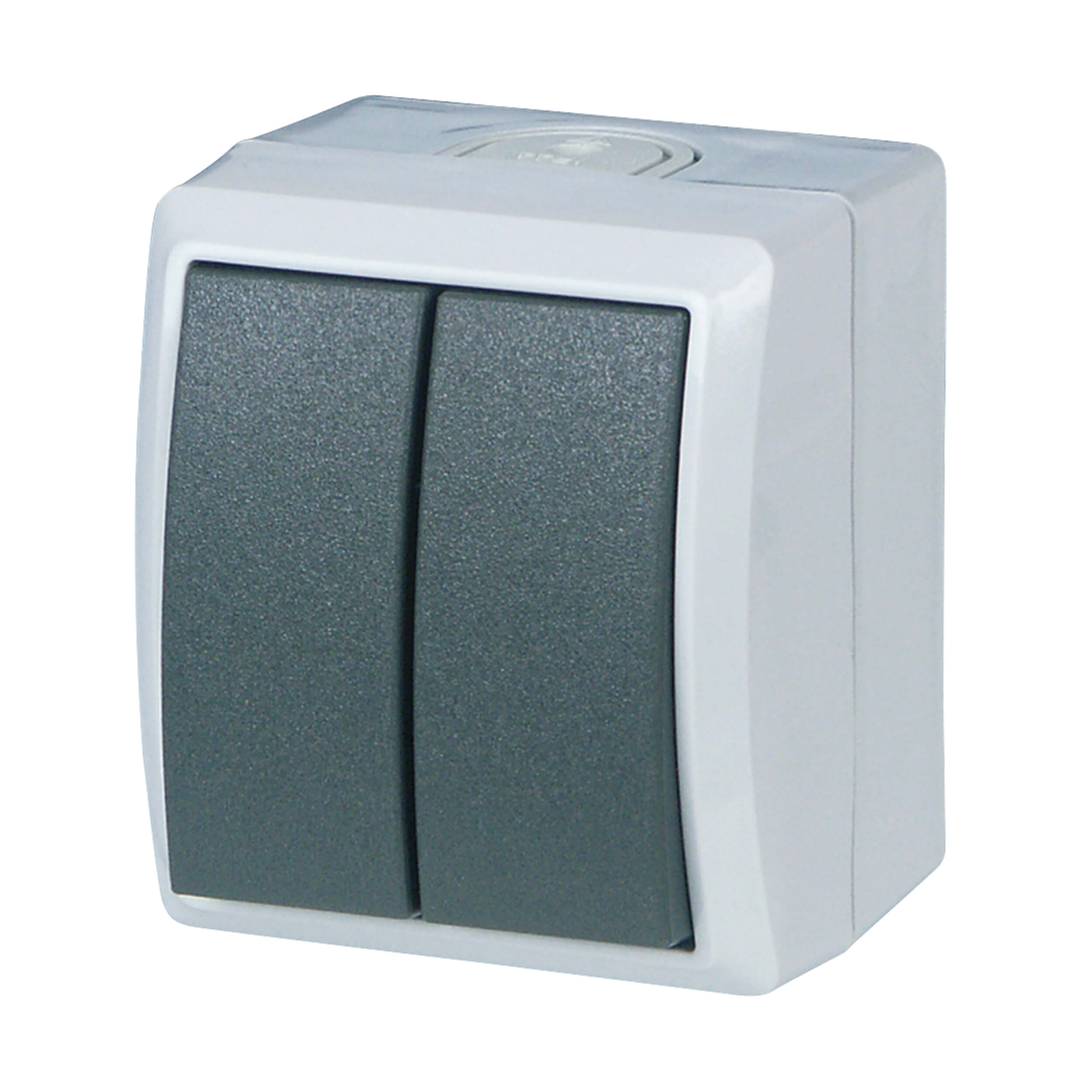 AquaForm Serienschalter für feuchte Räume, grau