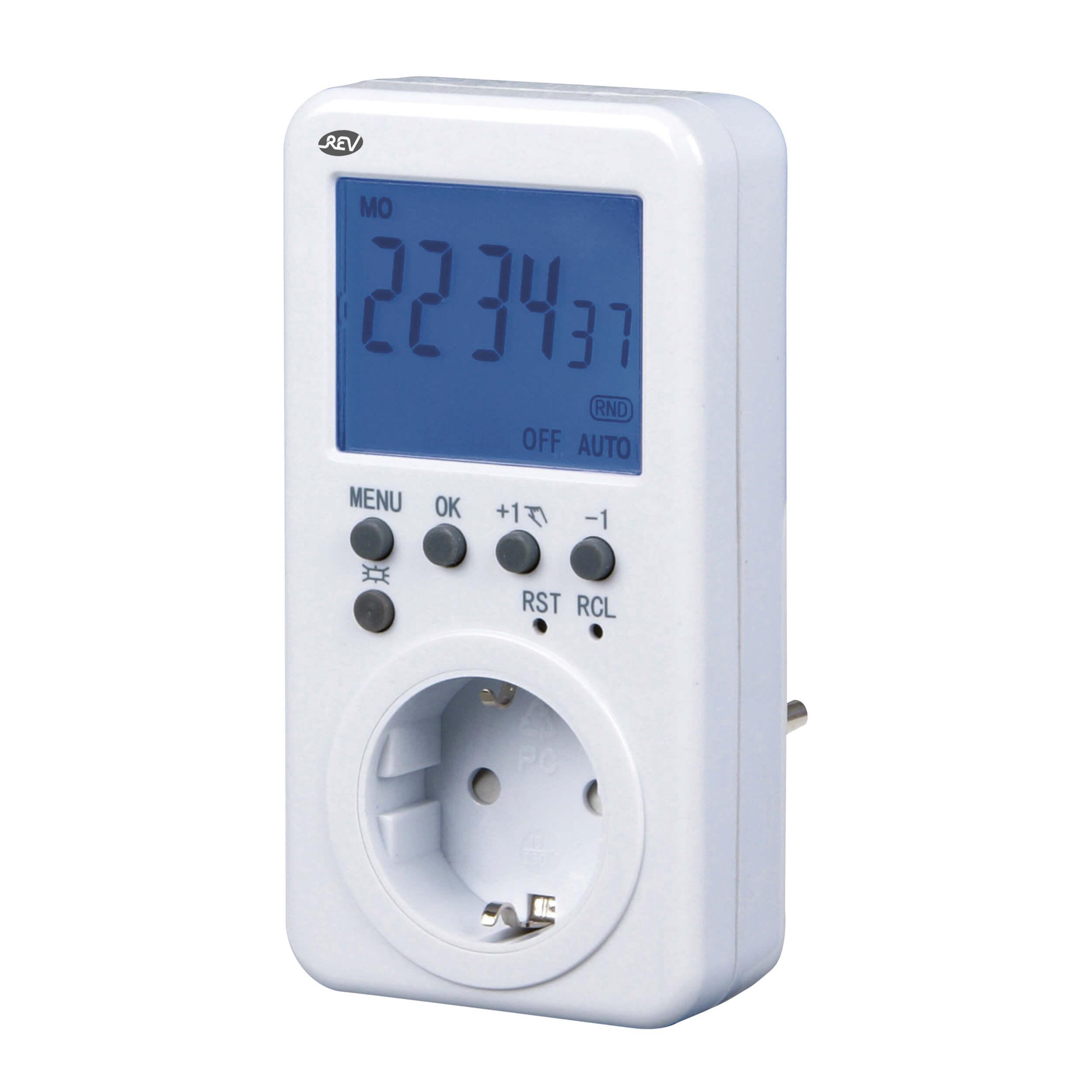 Zeitschaltuhr digital für den Innenbereich, bis 3680W, 16 Programme am Tag